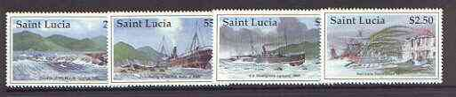 St Lucia 1997 Marine Disasters set of 4 unmounted mint, SG 1167-70*