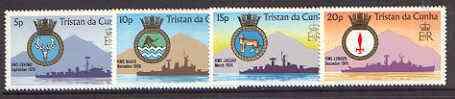 Tristan da Cunha 1977  Ships' Crests set of 4 unmounted mint, SG 215-18*