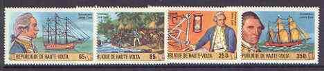 Upper Volta 1978 Capt James Cook Birth Anniversary set of 4 unmounted mint, SG 487-90