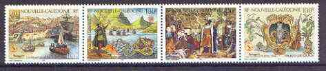 New Caledonia 1998 Portugal '98 Stamp Exhibition & Vasco da Gama Anniversary se-tenant strip of 4 unmounted mint, SG 1145-48