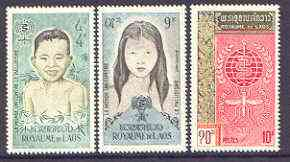 Laos 1962 Malaria Eradication perf set of 3 unmounted mint, SG 121-23