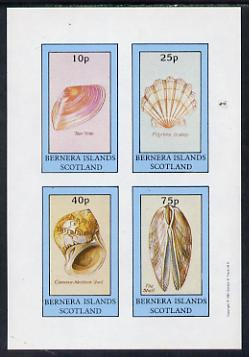 Bernera 1981 Shells (Thin Tellin, Scallop, Necklace Shell & File Shell) imperf set of 4 values (10p to 75p) unmounted mint