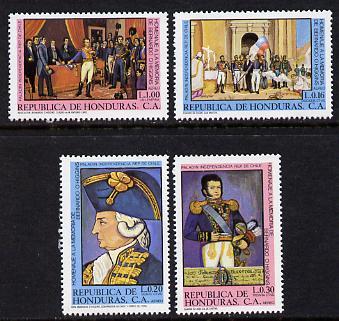 Honduras 1981 Bernardo O'Higgins Commem set of 4 unmounted mint (SG 994-7)
