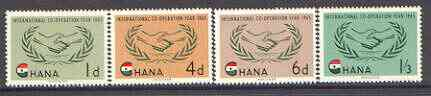 Ghana 1965 International Co-operation Year set of 4 unmounted mint, SG 365-68