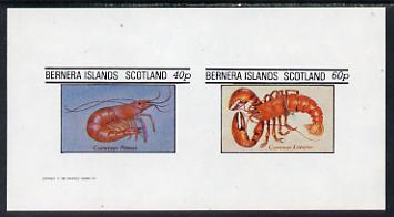 Bernera 1982 Shell Fish (Prawn & Lobster) imperf set of 2 values (40p & 60p) unmounted mint