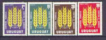 Uruguay 1963 Freedom From Hunger set of 4 unmounted mint, SG 1225-28