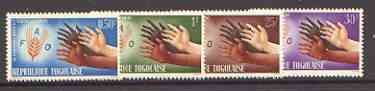 Togo 1963 Freedom From Hunger set of 4 unmounted mint, SG 326-29