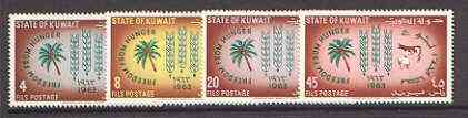 Kuwait 1963 Freedom From Hunger set of 4 unmounted mint, SG 184-87