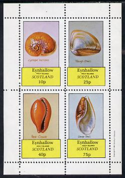 Eynhallow 1981 Shells (Cyclope Neritea etc) perf set of 4 values (10p to 75p) unmounted mint