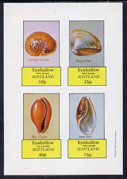 Eynhallow 1981 Shells (Cyclope Neritea etc) imperf set of 4 values (10p to 75p) unmounted mint