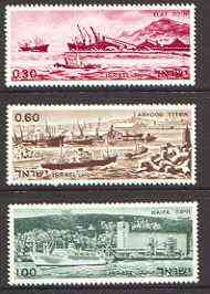 Israel 1969 Israeli Ports set of 3 unmounted mint, SG 405-7