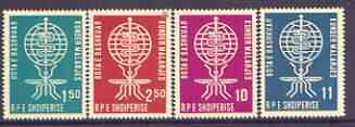 Albania 1962 Malaria Eradication perf set of 4 unmounted mint, SG 696-99, stamps on insects, stamps on medical, stamps on malaria, stamps on diseases