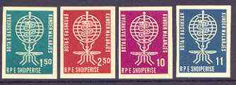 Albania 1962 Malaria Eradication imperf set of 4 unmounted mint, as SG 696-99, Mi 650-53B