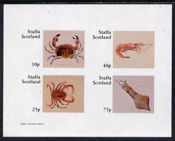 Staffa 1982 Shellfish (Crab) imperf set of 4 values (10p to 75p) unmounted mint
