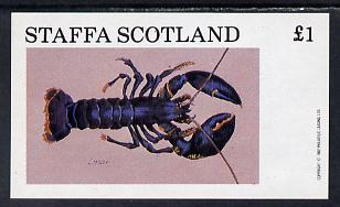 Staffa 1982 Shellfish (Lobster) imperf souvenir sheet (�1 value) unmounted mint
