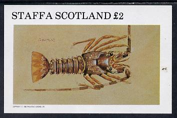 Staffa 1982 Shellfish (Crayfish) imperf deluxe sheet (�2 value) unmounted mint
