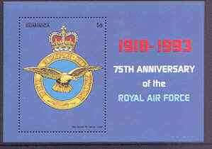 Dominica 1993 75th Anniversary of Royal Air Force perf m/sheet unmounted mint, SG MS 1729b