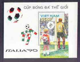Vietnam 1990 Football World Cup (2nd Issue) perf m/sheet unmounted mint, SG MS 1389