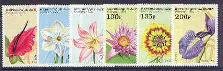 Benin 1995 Flowers perf set of 6 unmounted mint, SG 1327-32*