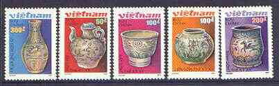 Vietnam 1989 Pottery perf set of 5 values unmounted mint, SG 1321-25