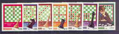 Nicaragua 1983 Chess perf set of 7 unmounted mint, SG 2504-10*