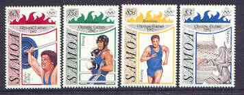 Samoa 1992 Barcelona Olympic games perf set of 4 unmounted mint, SG 882-85*