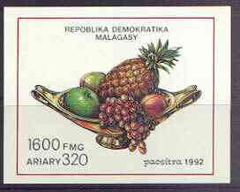 Malagasy Republic 1992 Fruits imperf m/sheet unmounted mint, SG MS 899