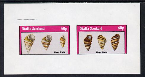Staffa 1982 Mixed Shells imperf set of 2 values (40p & 60p) unmounted mint