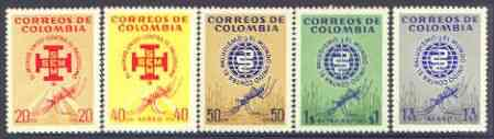 Colombia 1962 Malaria Eradication perf set of 5 unmounted mint, SG 1102-06