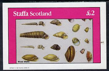 Staffa 1982 Mixed Shells imperf deluxe sheet (�2 value) unmounted mint