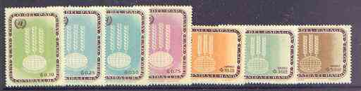 Paraguay 1963 Freedom From Hunger perf set of 7 unmounted mint, Mi 1208-14, stamps on ffh, stamps on food, stamps on agriculture, stamps on , stamps on  ffh , stamps on