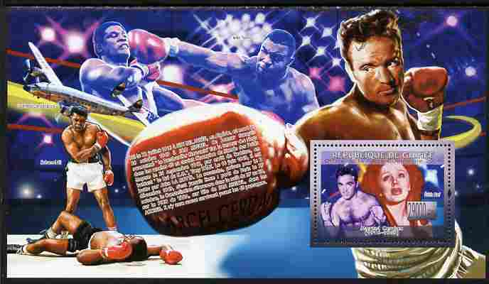 Guinea - Conakry 2009 Boxing - Marcel Cerdan perf souvenir sheet unmounted mint