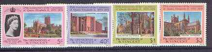 St Vincent - Grenadines 1978 Coronation 25th Anniversary set of 4 unmounted mint, SG 130-33