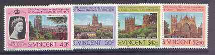 St Vincent 1978 Coronation 25th Anniversary set of 4 (Cathedrals & Abbeys) unmounted mint SG 556-59
