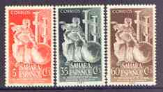 Spanish Sahara 1953 Royal Geographical Society set of 3 unmounted mint, SG 98-100*