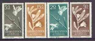 Spanish Sahara 1956 Child Welfare (Plants) set of 4 unmounted mint, SG 123-26
