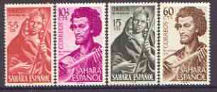 Spanish Sahara 1953 Child Welfare (Musicians) set of 4 unmounted mint, SG 11-04
