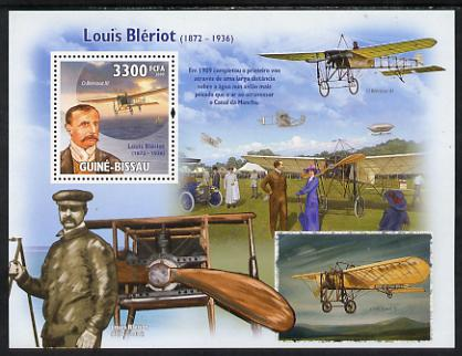 Guinea - Bissau 2009 Luis Bleriot & Aircraft perf s/sheet unmounted mint