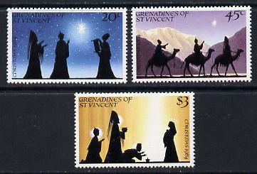 St Vincent - Grenadines 1984 Christmas set of 3 unmounted mint (SG 347-9)