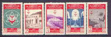 Spanish Morocco 1946 Anti-Tuberculosis Fund set of 5 unmounted mint, SG 297-301
