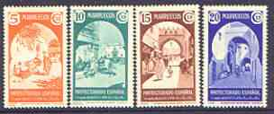 Spanish Morocco 1939 Views set of 4 unmounted mint, SG 213-16, stamps on tourism