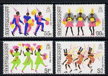 Montserrat 1983 Christmas Carnival set of 4 unmounted mint, SG 591-94