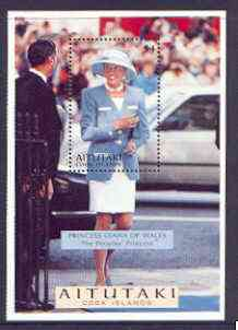 Cook Islands - Aitutaki 1998 Diana, Princess of Wales Commemoration m/sheet unmounted mint, SG 700