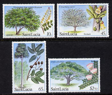 St Lucia 1984 Forestry Resources set of 4 (SG 699-702) unmounted mint