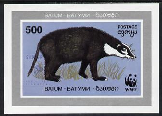 Batum 1994 WWF Wild Animals (Badger) imperf s/sheet with