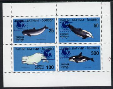 Batum 1994 Whales set of 4 with 'Philakorea' opt unmounted mint