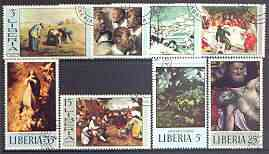 Liberia 1969 Paintings (2nd series) set of 8 very fine cto used, SG 1010-17