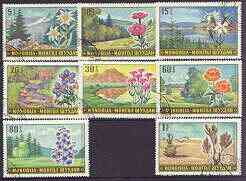 Mongolia 1969 Landscapes & Flowers set of 8 fine cto used, SG 525-32