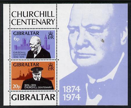 Gibraltar 1974 Churchill Birth Centenary m/sheet unmounted mint, SG MS 339