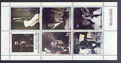 Karachaevo-Cherkesia Republic 2001 Miles Davis perf sheetlet containing complete set of 6 values unmounted mint, stamps on music, stamps on jazz